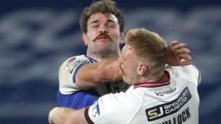 Alex Walmsley was strapped up to play a key role against Wigan in his third Grand Final triumph with St Helens