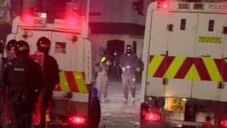 Rioting in North Belfast