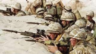 خلیجی جنگ، برطانیہ، عراق