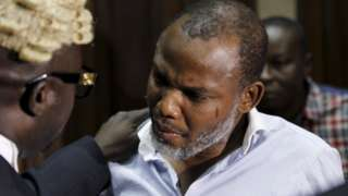 """""""Nnamdi Kanu"""": Ipob lawyer visit Biafra separatist for Nigerian detention centre for di first time"""