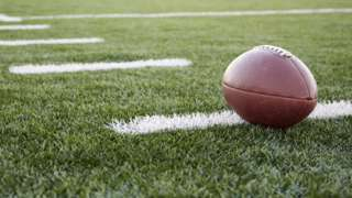 Stock image of a football