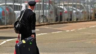 Pilot with bag
