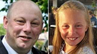 Andrew Broadhead, 42, and eight-year-old Kiera