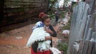 People living on Nicaragua's Caribbean coastline sought shelter