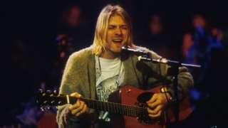 Kurt Cobain during the 1993 MTV Unplugged performance