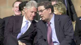 Bill Clinton and John Hume