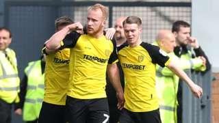 Liam Boyce celebrate's scoring Burton's opener