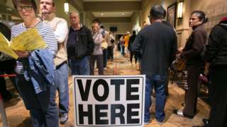 Americans line up to vote in Atlanta, Georgia.