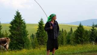 Жінка біля поля