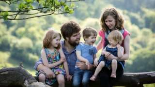 Zoe Powell and family