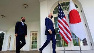 日本首相菅义伟周五与美国总统拜登举行会谈。