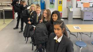 Pupils have been given a blazer, jumper, bag and pencil case