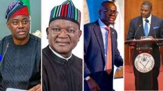 Gov. Seyi Makinde, Gov. Samuel Ortom, Gov. Babajide Sanwo-Olu and Abubakakar Malami SAN