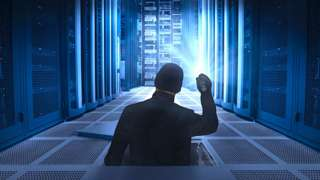 An illustration of a thief in a server room