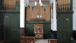 The organ at Sunderland's Holy Trinity Church before it was removed