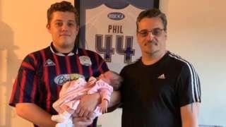 Ryan Turner, his dad and daughter