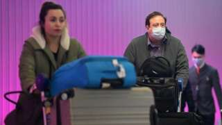 Travellers amid coronavirus concerns