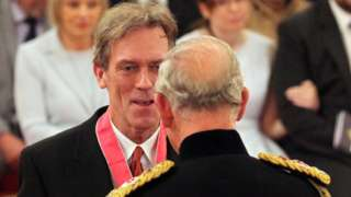 Hugh Laurie with Prince Charles