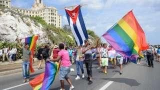A gay pride parade in Havana on 13 May 2017