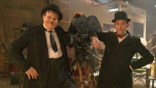 Steve Coogan and John C Reilly playing Laurel and Hardy