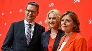 Thorsten Schäfer-Gümbel, Manuela Schwesig and Malu Dreyer