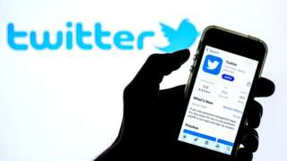 Twitter logo and phone app