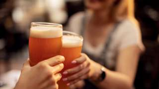 Blurred stock image of women toasting