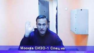 Navalny appealing via video link, 28 Jan 21