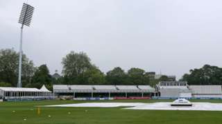 Covers on a wet outfield at Chelmsford