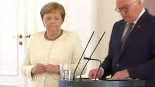 Chancellor Merkel at ceremony, 27 Jun 19