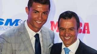 Cristiano Ronaldo tare da Jorge Mendes