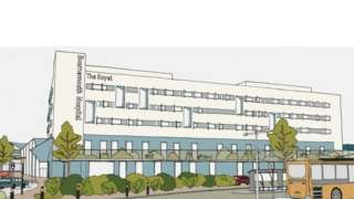 Artist's impression of new hospital building