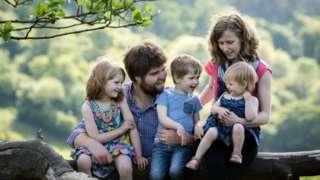 Zoe Powell and family
