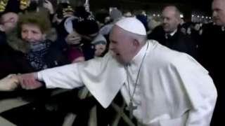 Umukirisu ariko akwega Papa Francis n'inguvu