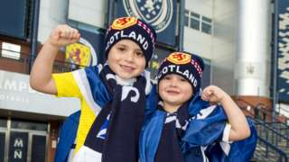 Young Scotland fans