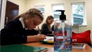 school children at desk
