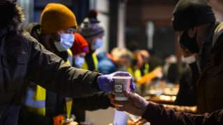 Homeless shelter in Dublin on 20 January 20201