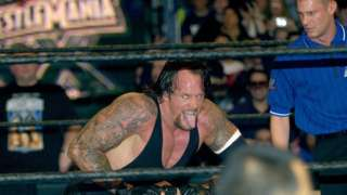 The Undertaker performing at Wrestlemania