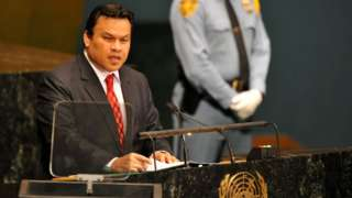 Sprent Dabwido addresses the UN in 2012