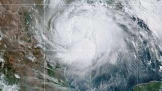 Imagen satelital del huracán Hanna