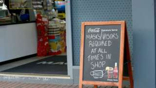 A sign outside a shop in Belfast