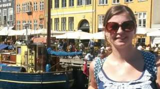 Sarah on holiday before lockdown
