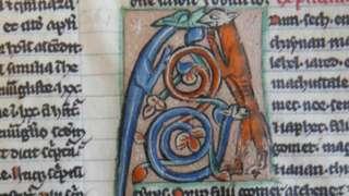 Manuscript leaf