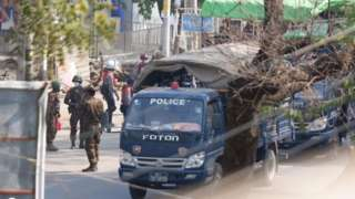 မုံရွာမြို့တွင်းလုံခြုံရေးယူထားတဲ့ စစ်ကောင်စီတပ်များ (ပုံဟောင်း)