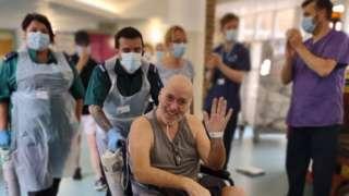 Jamie Pritchard leaving hospital