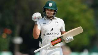 Joe Clarke made two centuries in the match, having previously only got one fifty this season