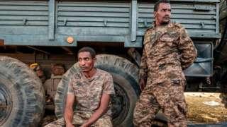 Ethiopian soldiers