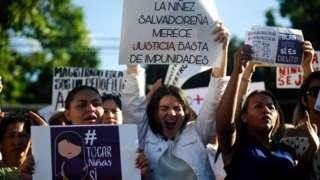 Protestas en San Salvador Carteles