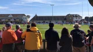 Crowds attend a Jersey Reds match