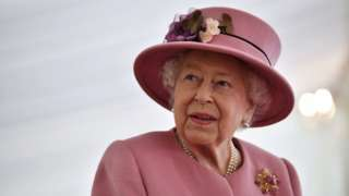 The Queen on her visit to Porton Down on 15 October